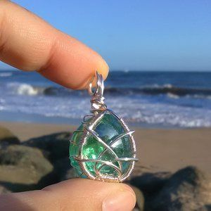 Emerald Isle Silver Wrapped Celtic Necklace